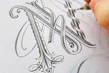 Doodles. Calligraphy. Ornaments. / Beautiful ornaments and calligraphy, fonts, typography, exercises...