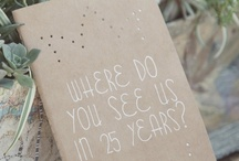 Wedding: Reception Details / Table numbers, place cards, seating charts, and other whimsy...