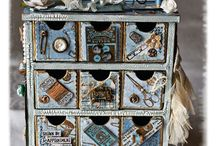 ALTERED BOXES & CONFIGURATION BOXES / by Liz Richards