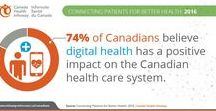 Digital Health Infographics / View stats and information on how digital health is improving the health and health care of Canadians as well as how digital health is transforming health care around the world.