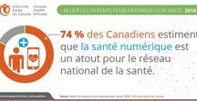 Infographie sur la santé numérique / Consultez des statistiques et de la documentation sur la façon dont la santé numérique améliore la santé et transforme les soins au Canada et partout dans le monde.