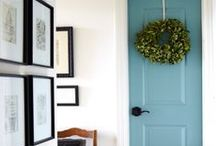 The Front Door  / Your front door is one of the first things people see at your home. Make yours an original, with paint or stain from Norberg Paints.