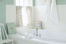 Bathrooms  / Whether you have a small space you're trying to make feel more open, or you're just trying to tie the room together; Norberg Paints can help you find the perfect paint or stain for your bathroom.