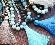 TASSEL Chwosty /  This remarkable tassel decoration made from a bundle of thread, straps or cords. Ornaments associated with the curtains, is used now for decorating bags, clothing and jewelery. Tassels jewelry also are filled with metal or silver holder.