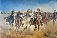 1860-1930 U.S. Cavalry / I had a neighbor when I was a young boy, he was in the cavalry in the 30's and he would tell me stories, and I would dream about them, Memories..... / by George D'Isabella