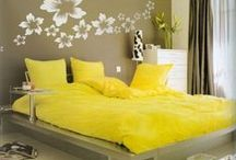 Fun Yellow Decor / Decorating ideas with yellow color to put a smile on your face / by Banarsi Designs