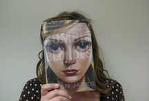 Book Faces! / We created these on Teen Tuesday, March 12th.  If you would like to submit your own book face picture, talk to Penny!