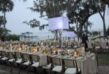 Outdoor waterfront wedding/party at Bay Preserv in Opsrey Sarasota County FL