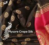 Mysore Sarees / Light weight Mysore Chiffon and Mysore Georgette sarees