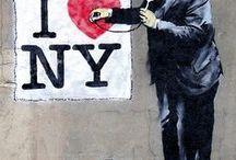 I love new york / Raccolta artisti di strada
