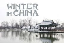 Winter in China / White landscapes and ice sculptures during the Chinese Winter