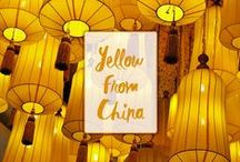 Yellow from China / According to the Five Elements Theory, the color yellow in china belongs to the element earth, represented through the direction center or zenith, a stabilizing energy, a balanced ying- yang.