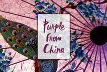 Purple from China / Purple colour represents in China spiritual awareness, physical and mental healing, hence strength, abundance, red purple brings luck and fame.