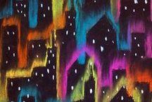 Chalk pastel art