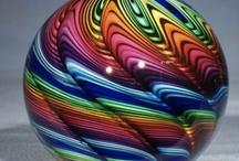 Rainbowcolors/Regenboogkleuren / Paper weights/pres papiers