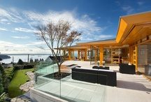 Sentinel House / Westcoast Contemporary styled house using organic architectural details  inspired by Frank Lloyd Wright...