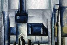 Lyonel Feininger / 1871 in  New York City, United States - 1956; New York City Nationality: American, German. Art Movement: Expressionism Painting School: Der Blaue Reiter (The Blue Rider), Die Brücke (The Bridge), Berlin Secession, Degenerate art Field: painting, printmaking, illustration, drawing, graphics