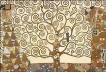 Gustav Klimt / Gustav Klimt (July 14, 1862 – February 6, 1918) was an Austrian symbolist painter and one of the most prominent members of the Vienna Secession movement. Klimt is noted for his paintings, murals, sketches, and other objets d'art. During his successful 'Golden Phase' he used gold leaf (Pallas Athene) (1898) and Judith I (1901),( Portrait of Adele Bloch-Bauer I) (1907) and The Kiss (1907–1908). Trips to Venice and Ravenna most likely inspired his gold technique and his Byzantine imagery.