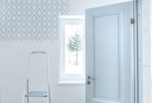 WALL DESIGN / Stenciling projects with Scandinavian designed wall stencils for offices and homes.