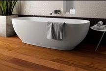 Bathroom / Don't be afraid of water! Choose the right wood flooring and enjoy your bathroom.