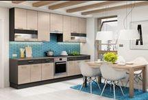 """KAM - Kamduo XL / Zestaw mebli kuchennych firmy KAM dla bardziej wymagających klientów. Nowoczesne meble kuchenne KAMDUO XL są rozwiązaniem dla tych, którzy oczekują w swojej kuchni więcej przestrzenni. Meble kuchenne KAMDUO XL są produktem do zabudowy """"pod sufit"""". Do samodzielnego montażu."""