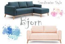 Styl Skandynawski - Fotele , Sofy I Narożniki - kolekcja Bjorn / Na tej stronie znajdziesz designerskie produkty z kategorii Sofy i narożniki, które wzbogacą Twoje wnętrza, nadadzą im unikalnego charakteru i wprowadzą niepowtarzalny styl.  Zobacz, jakie pomysły może podsunąć Ci nasze produkty.