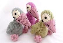Háčkovaná zvířátka, panenky - amigurumi