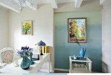 Cieniowanie farby - efekt ombre na ścianie