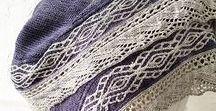 Pletené šátky a šály - knitting shawl