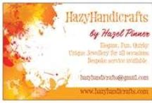 Hazyhandicrafts / My makes- mainly jewellery which I sell at www.hazyhandicrafts.com But also any other random projects I take a liking to!