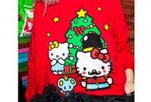 JapanLA Hello Kitty Christmas Sweater / Spread the holiday joy in our soft sweatshirt featuring Hello Kitty, Mimi, and Joey in a cute Nutcracker motif! Wearing tacky holiday sweaters is overrated. It's time to get cute this year!! Featured in ELLE and Teen Vogue, this holiday sweatshirt will bring you much joy this season!  Hurry and grab yours now before it sells out! Available at http://japanla.com/, http://sanrio.com/, and http://modcloth.com/  Thanks to Kota Radical of Girl Radical for the lovely photos!