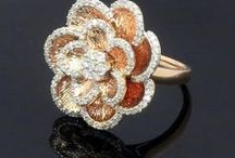 Cocktail Rings / Diamond and Gemstone with 14K Gold Jewelry