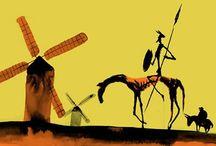 Don Quijote y Sancho Panza / by Quena Peleteiro