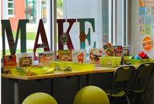 Signage & Wayfinding / It is more important than ever that your library or school to be easy to navigate. Get inspired by these examples of fun and effective signage! #findyourway