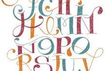Typografie ♦ Schriften / Fonts ♦ Schriften ♦ Buchstaben ♦ Lettern ♦ Alphabet