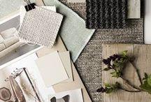 Interior Concept boards / Concept-Boards ♦ Material-Boards ♦ Farbkombinationen ♦ Material-Mix ♦ Einrichtungsinspirationen