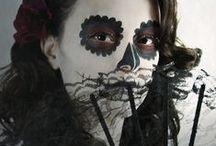 Día de Muertos / Day of the Dead / Sugar Skull Make Up / Photographer: Evi Christopoulou Model: Christy L. MUA: Olga Van Der Heyden #surreal #conceptual #fineart #fashion #photography