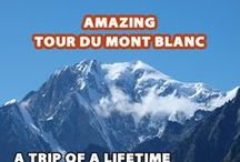 Tour du Mont Blanc / 170 km, 10.000m of ascent and hiking through 3 countries in a breathtaking scenery, the Tour du Mont Blanc is one of the world's greatest hiking trail. I'm thrilled. I'm standing right now at the finisher line of the world famous ultra marathon in Chamonix, France. The first women is running over the finisher line. She smiles and can't believe that she won the UTMB for womans. She run 170... more on www.worldtrip-blog.com