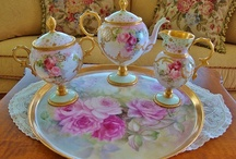 Handpainted Roses China!! / by Darlene Clement