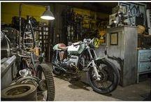 Motorcycles workshop and garage