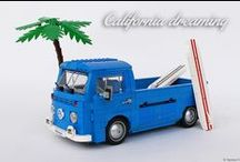 """LEGO VOLKSWAGEN T2 - """"SURFER PICK-UP"""" / Here few pictures of my custom LEGO VW T2."""