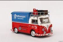 "LEGO VOLKSWAGEN T1 ""ROAD SERVICE"" – ""CANVAS"" PICK-UP / My custom LEGO VW T1."