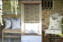 Emily Bond Fabrics / A Bristol designer with a passion for creating designs that bring a fresh look to country living. Launched in 2007, her designs are all printed on pure linen.