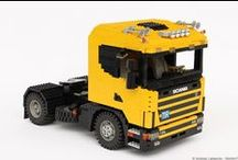 """""""YELLOW CAB"""": LEGO SCANIA 124L / After my first 1/13 scale SCANIA - the white one - I decided to build another """"4-series"""": a two axles for long distance routes. At the beginning of 2009 I built the yellow 124L, I was inspired by a 1/24 scale kit released by Italeri (famous scale models manufacturer)."""