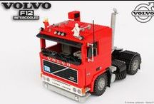 """DEEP RED: VOLVO F12 INTERCOOLER 1:13 SCALE LEGO® MODEL / This is the 100% LEGO model of the famous VOLVO F12 Intercooler. This is the """"model year '83"""", in 1/13 scale. To realize the LEGO® model I've used the magnificent 1/8 scale model released in 1987 by Pocher. I love this LEGO F12!"""