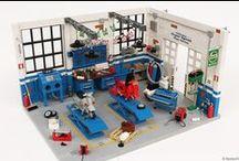 Dream Garage | Officina Super Sprint / Classic Vespa Workshop 100% LEGO