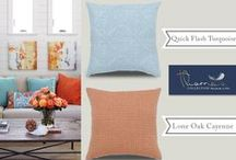 Get This Look - Beautiful Luxury Pillows in Beautiful Spaces / This is where we feature a beautiful space paired side-by-side with our beautiful luxury pillows - for a little home design inspiration!