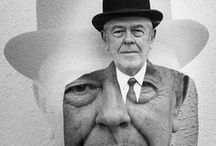 "René Magritte / René Magritte was a Belgian surrealist artist. He became well known for a number of witty and thought-provoking images that fall under the umbrella of surrealism. Describing his paintings, he said :""My painting is visible images which conceal nothing; they evoke mystery and, indeed, when one sees one of my pictures, one asks oneself this simple question, 'What does that mean?' It does not mean anything, because mystery means nothing, it is unknowable."""