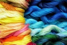 Hand Dyed Thread Ideas / These are some of the ways different artisans that are using my hand dyed threads.