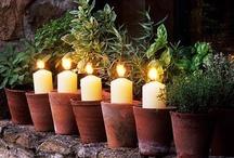 LUZ en las VELAS / Las velas desprenden con su luz,  rayos de Amor y esperanza. Las miramos con cariño y en esa mirada esperamos encontrar paz  y tranquilidad / by Juana Martín
